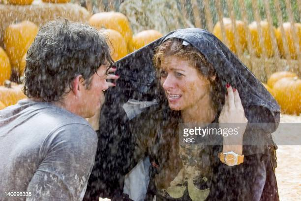 WILL GRACE 'It's the Gay Pumpkin Charlie Brown' Episode 5 Pictured Harry Connick Jr as Leo Markus Debra Messing as Grace Adler Photo by NBCU Photo...