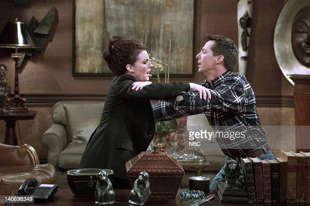WILL GRACE 'It's the Gay Pumpkin Charlie Brown' Episode 5 Pictured Megan Mullally as Karen Walker Sean Hayes as Jack McFarland Photo by NBCU Photo...
