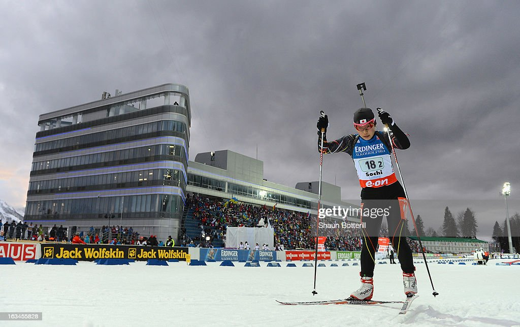 Itsuka Owada of Japan competes in the Women's 4x6km Relay event at theBiathlon & Ski Complex on March 10, 2013 in Sochi, Russia.