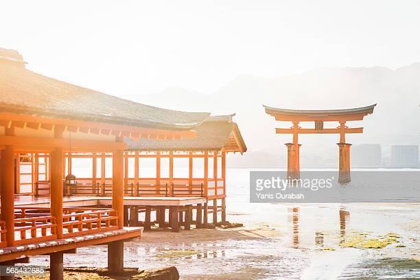 Itsukushima shrine and Miyajima great torii gate