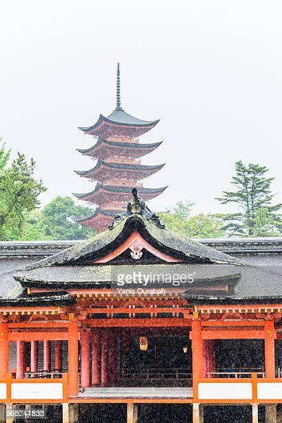 Itsukushima shrine, five storied pagoda, Miyajima