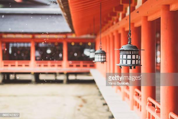Itsukushima shrine, lantern and wood, Miyajima