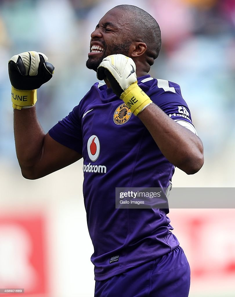 Itumeleng Khune of Kaizer Chiefs during the Absa Premiership match between AmaZulu and Kaizer Chiefs at Moses Mabida Stadium on December 22, 2013 in Durban, South Africa.