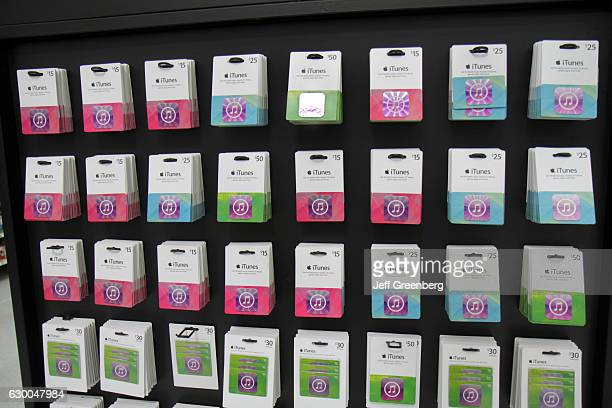 iTunes gift cards retail display in Walmart