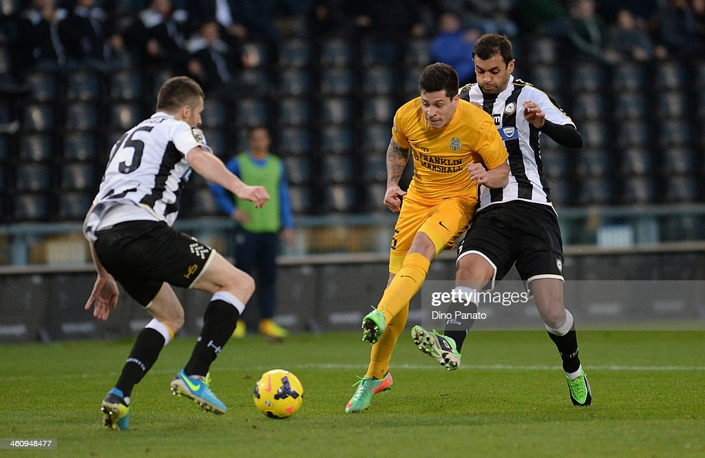Iturbe of Helas Verona FC scores his reams third goal during the Serie A match between Udinese Calcio and Hellas Verona FC at Stadio Friuli on...