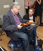 Itzhak Perlman and David Garrett are seen as part of SiriusXM's 'Artist Confidential' series on SiriusXM Pops with special guest Itzhak Perlman on...