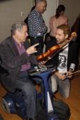 Itzhak Perlman and David Garrett visit the SiriusXM Studio on June 6 2012 in New York City