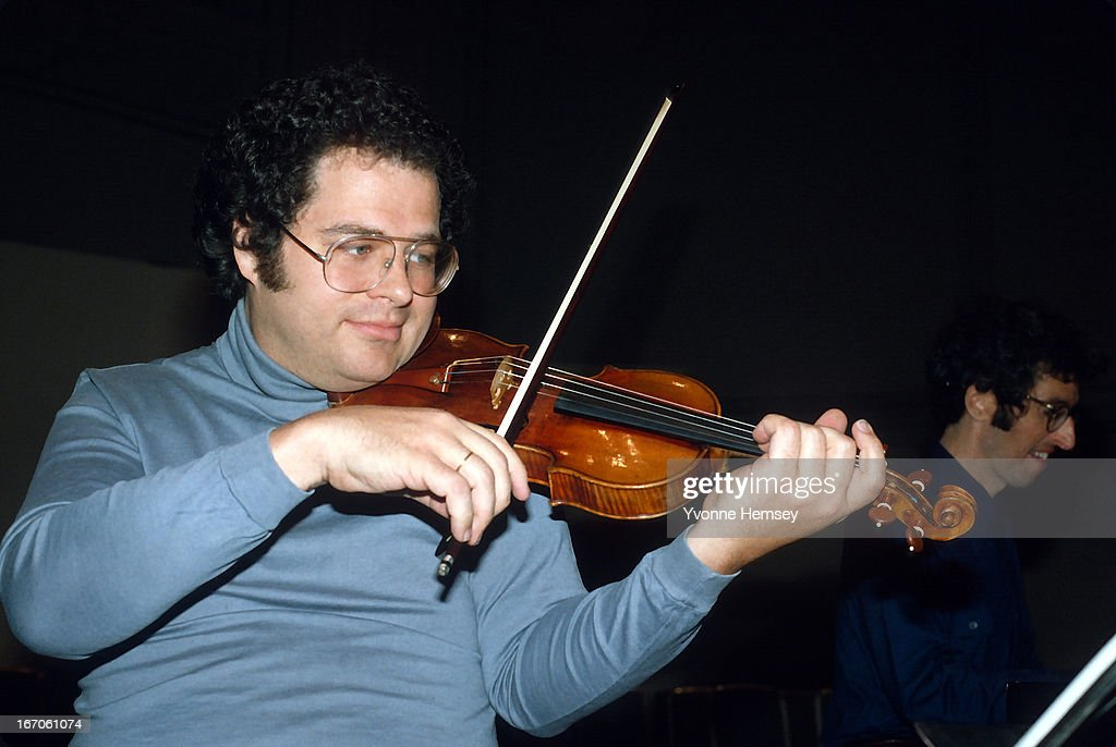 Itzhak Perlman rehearses for a concert January 13 1981 in New York City