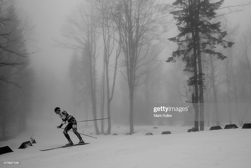 Iurii Utkin of Ukraine competes in the Men's 12.5km Visually Impaired Biathlon during day four of Sochi 2014 Paralympic Winter Games at Laura Cross-country Ski & Biathlon Center on March 11, 2014 in Sochi, Russia.