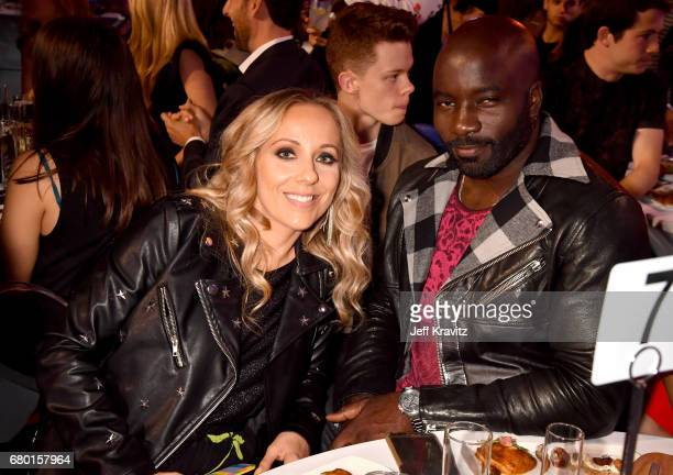 Iva Colter and actor Mike Colter attend the 2017 MTV Movie And TV Awards at The Shrine Auditorium on May 7 2017 in Los Angeles California