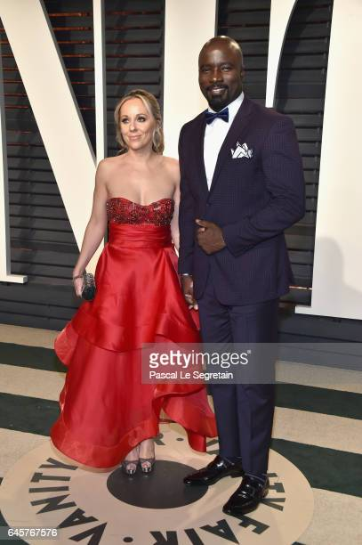 Iva Colter and actor Mike Colter attend the 2017 Vanity Fair Oscar Party hosted by Graydon Carter at Wallis Annenberg Center for the Performing Arts...