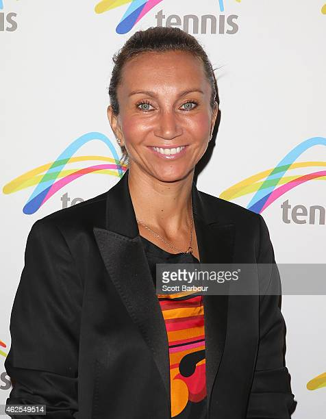 Iva Majoli arrives at the annual Legends Lunch during the 2015 Australian Open at Melbourne Park on January 31 2015 in Melbourne Australia The lunch...