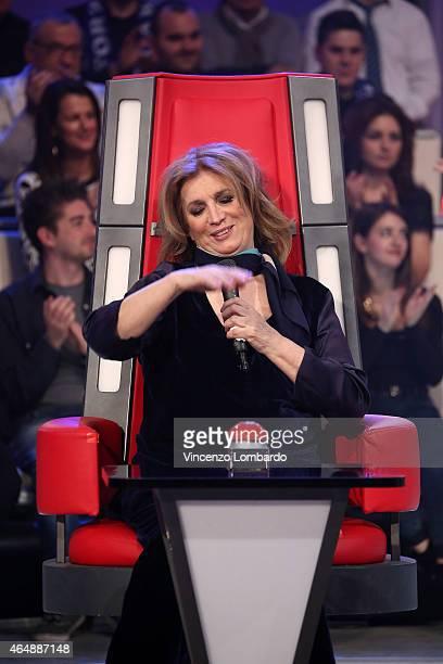 Iva Zanicchi attends the 'Quelli Che Il Calcio' Tv Show on March 1 2015 in Milan Italy