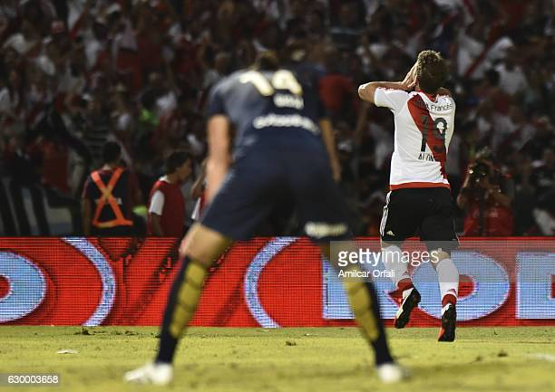 Ivan Alonso of River Plate celebrates after scoring the fourth goal of his team during a final match between River Plate and Rosario Central as part...