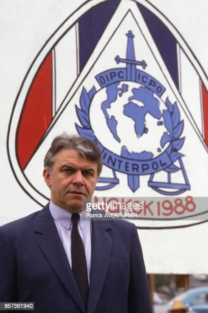 Ivan Barbot French president of Interpol on November 22 1988 in Bangkok Thailand