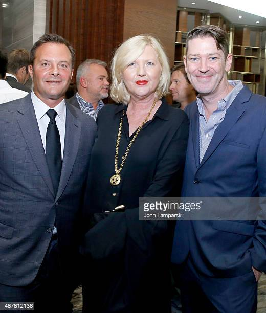Ivan Bart Brandusa Niro and Eddie Roche attend The Daily Front Row's Third Annual Fashion Media Awards at the Park Hyatt New York on September 10...