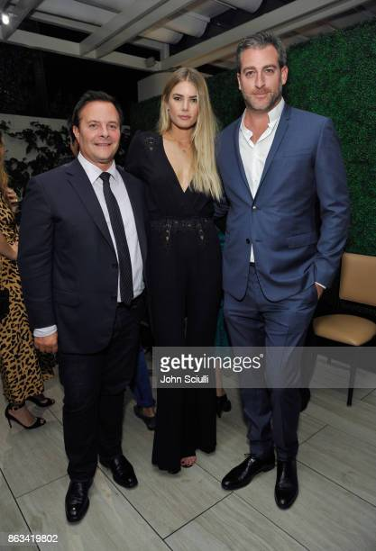 Ivan Bart Tori Praver and Mark Birnbaum attend THE OUTNET x Amber Valletta at Waldorf Astoria Beverly Hills on October 19 2017 in Beverly Hills...