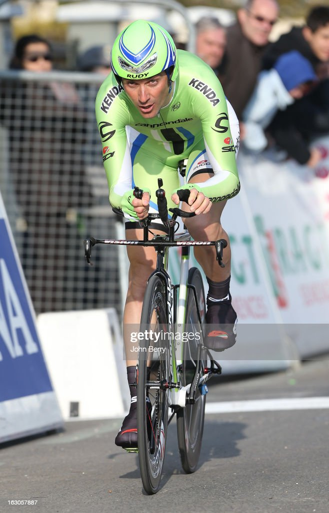 Ivan Basso of Italy and Team Cannondale rides during the prologue of 2.9 km of the 2013 Paris-Nice on March 3, 2013 in Houilles, Yvelines, France.