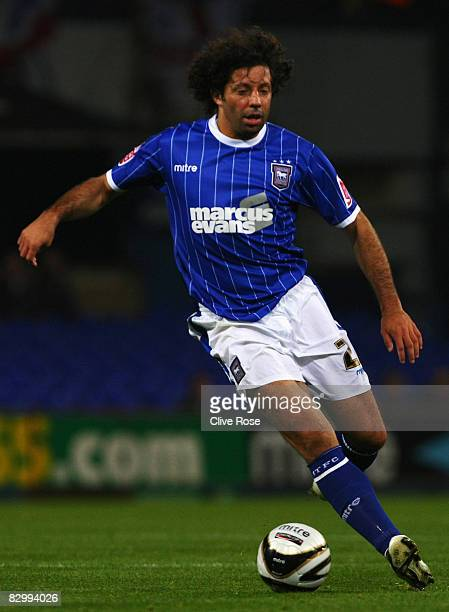 Ivan Campo of Ipswich Town in action during the Third Round Carling Cup match between Ipswich Town and Wigan Athletic at Portman Road on September 24...