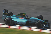 Ivan Capelli of Italy drives the Leyton House Racing March CG891 Judd V8 during the Fuji Television Japanese Grand Prix on 22 October 1989 at the...