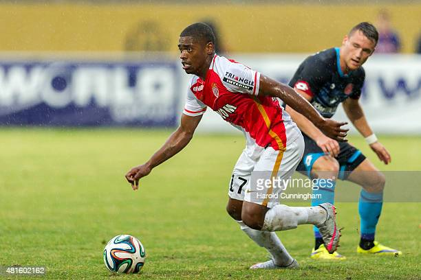 Ivan Cavaleiro of AS Monaco in action during the preseason friendly match between 1 FSV Mainz 05 and AS Monaco at Stade des Arberes on July 22 2015...