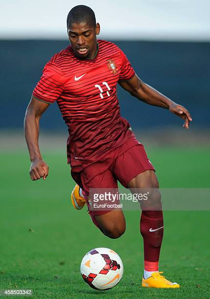 Ivan Cavaleiro of Portugal in action during the UEFA U21 Championship second leg playoff between Portugal and Netherlands at the Mata Real Stadium on...