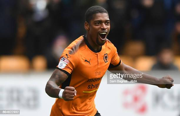 Ivan Cavaleiro of Wolverhampton Wanderers celebrates after scoring a goal to make it 10 during the Sky Bet Championship match between Wolverhampton...