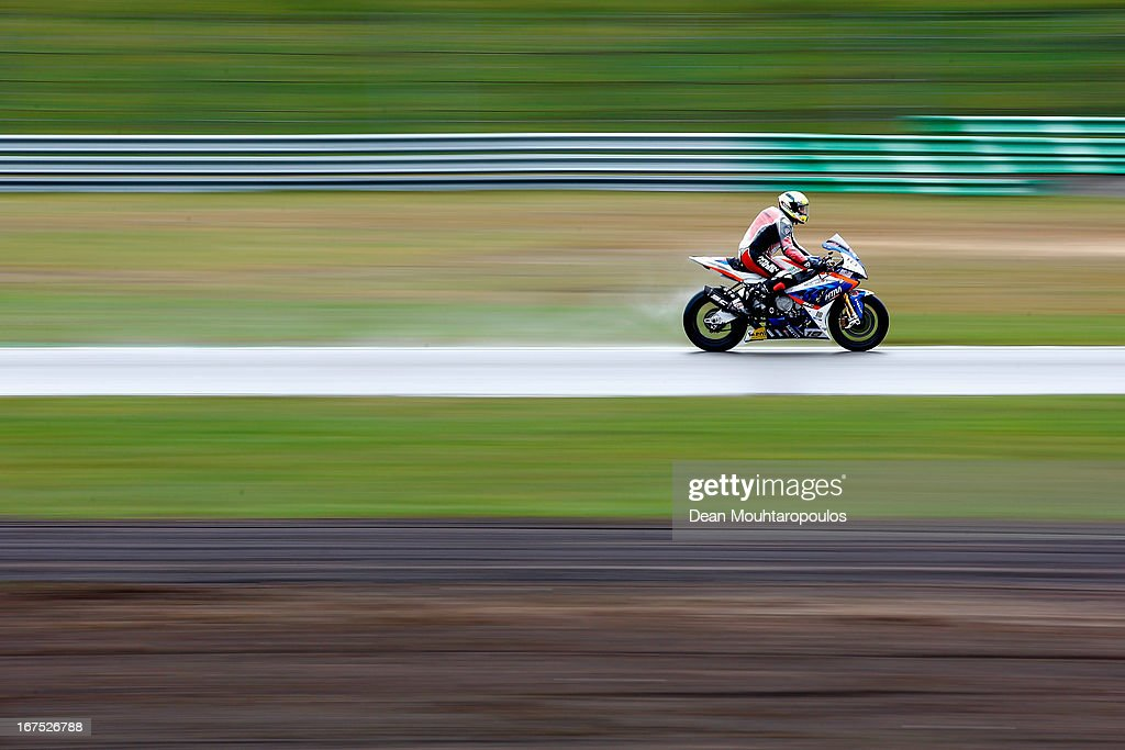 Ivan Clementi of Italy on the BMW S1000 RR for HTM Racing competes during the World Superbikes Practice Session at TT Circuit Assen on April 26, 2013 in Assen, Netherlands.