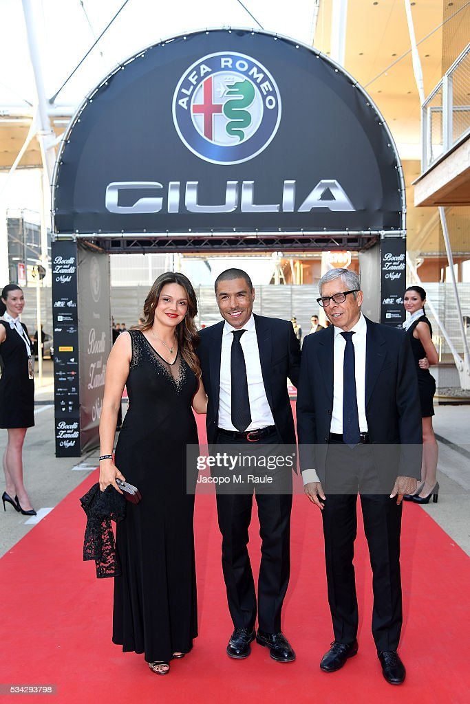Ivan Cordoba, Maria Isabel Cordoba ad guest walk the red carpet of Bocelli and Zanetti Night on May 25, 2016 in Rho, Italy.