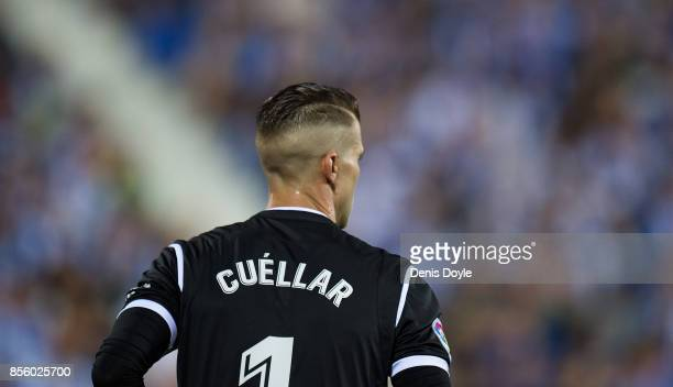 Ivan Cuellar of CD Leganes looks on during the La Liga match between Leganes and Atletico Madrid at Estadio Municipal de Butarque on September 30...