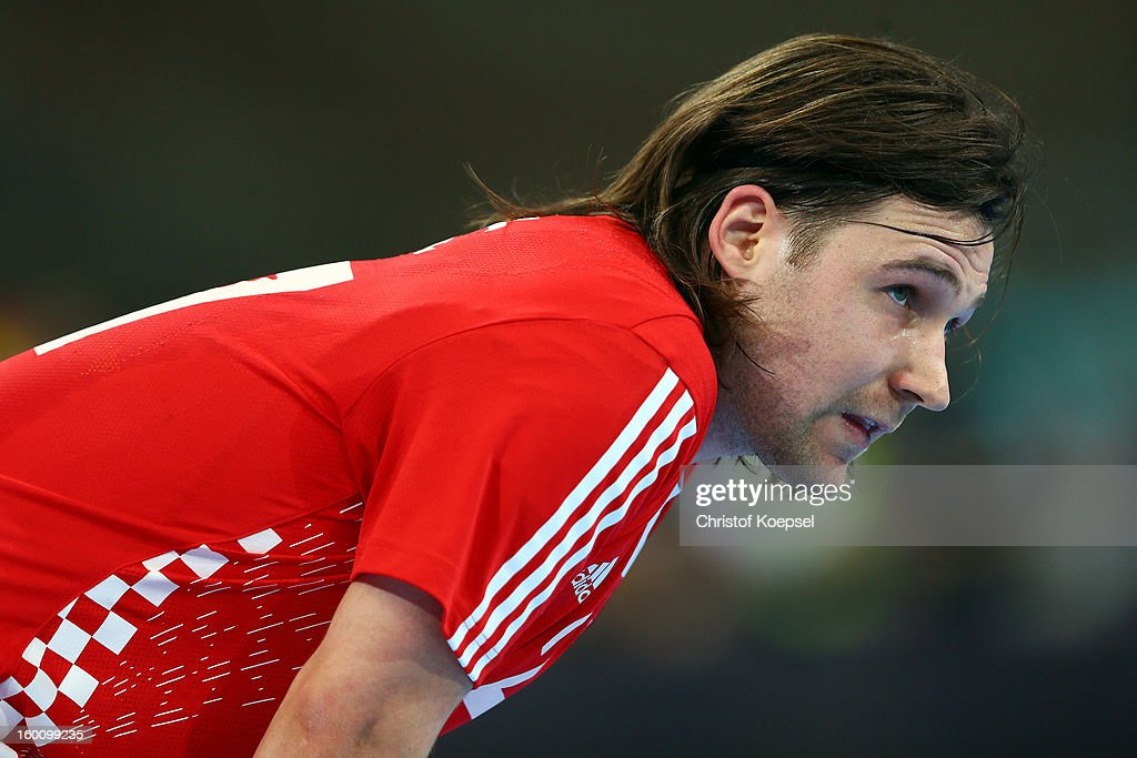 Ivan Cupic of Croatia looks on during the Men's Handball World Championship 2013 third place match between Slovenia and Croatia at Palau Sant Jordi on January 26, 2013 in Barcelona, Spain.