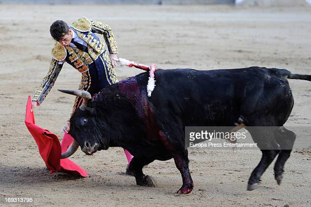 Ivan Fandino pefroms during press bullfights at Plaza de Toros de Las Ventas on May 22 2013 in Madrid Spain