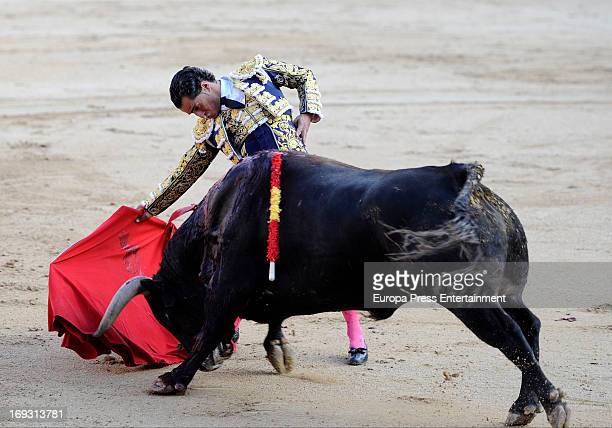 Ivan Fandino performs during press bullfights at Plaza de Toros de Las Ventas on May 22 2013 in Madrid Spain