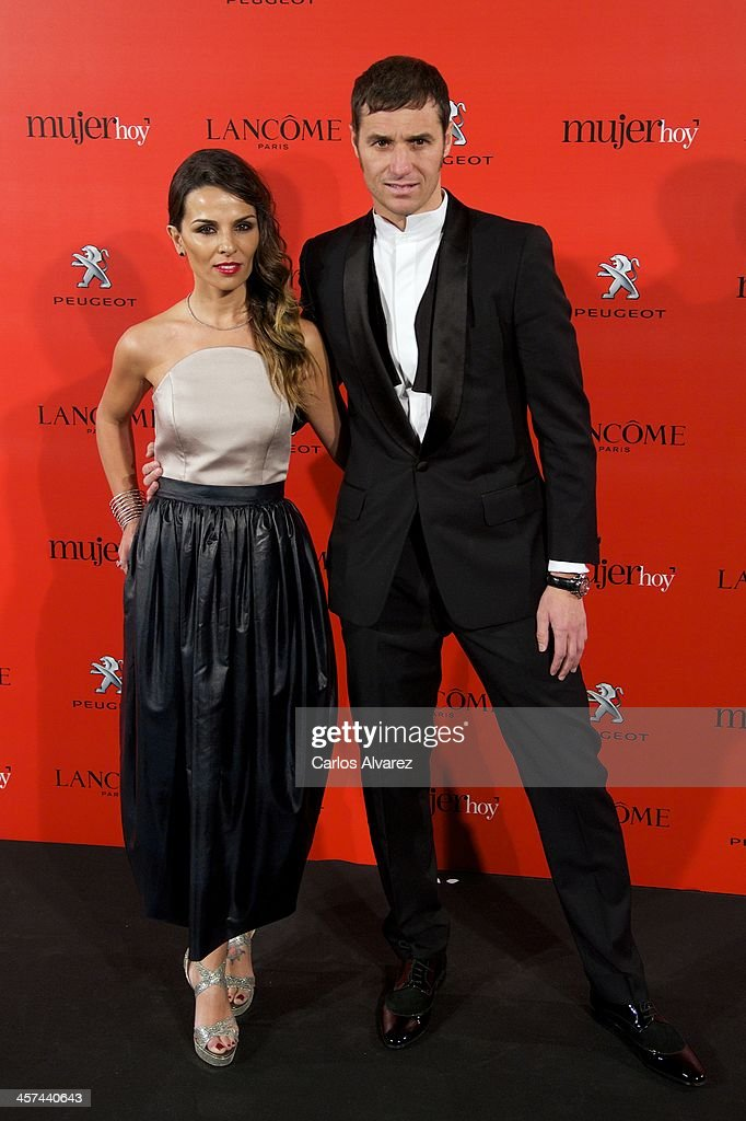 Ivan Helguera and Lorena Casado attend the 'Mujer de Hoy' awards 2013 at the Hotel Palace on December 17, 2013 in Madrid, Spain.