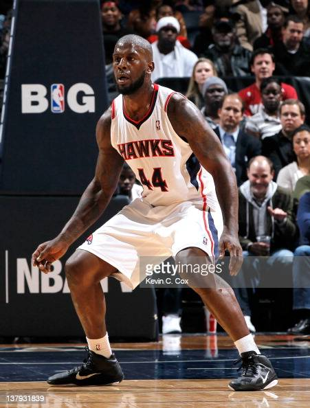 Ivan Johnson of the Atlanta Hawks against the Miami Heat at Philips Arena on January 5 2012 in Atlanta Georgia NOTE TO USER User expressly...