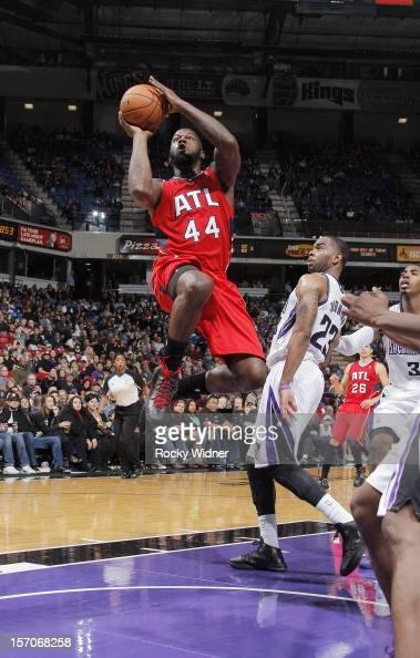 Ivan Johnson of the Atlanta Hawks goes up for the shot against the Sacramento Kings on November 16 2012 at Sleep Train Arena in Sacramento California...