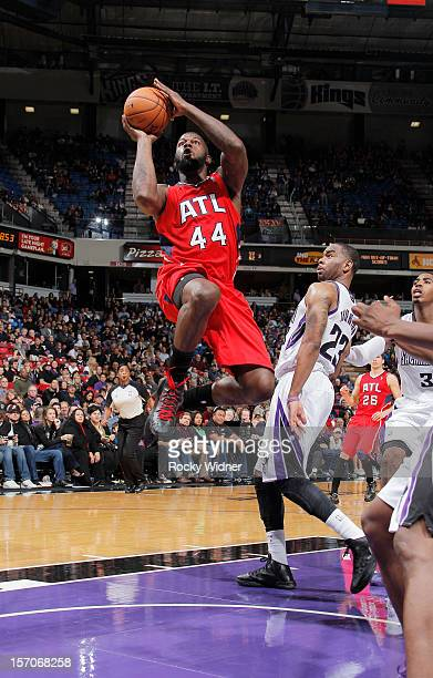 Ivan Johnson of the Atlanta Hawks goes up for the shot against the Sacramento Kings on November 16 2012 at Sleep Train Arena in Sacramento California...