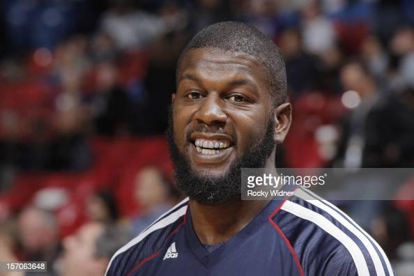 Ivan Johnson of the Atlanta Hawks in a game against the Sacramento Kings on November 16 2012 at Sleep Train Arena in Sacramento California NOTE TO...
