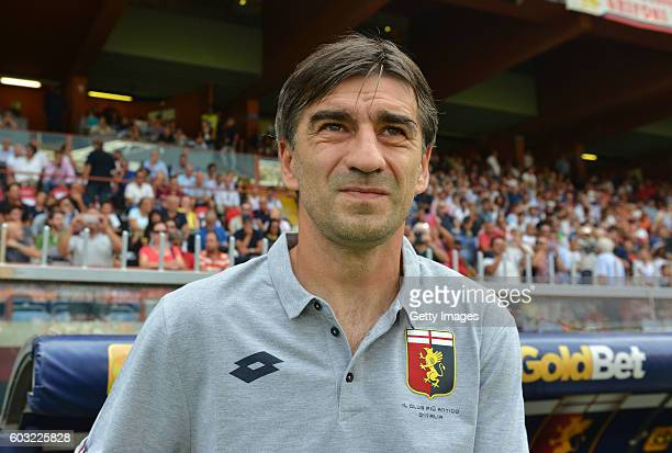 Ivan Juric head coach of Genoa CFC during the Serie A match between Genoa CFC and ACF Fiorentina at Stadio Luigi Ferraris on September 11 2016 in...