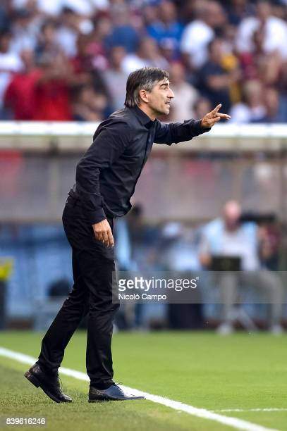 Ivan Juric head coach of Genoa CFC gestures during the Serie A football match between Genoa CFC and Juventus FC Juventus FC wins 42 over Genoa CFC