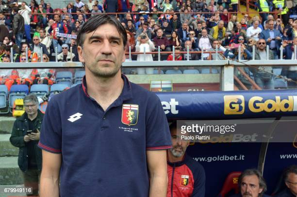 Ivan Juric head coach of Genoa during the Serie A match between Genoa CFC and FC Internazionale at Stadio Luigi Ferraris on May 7 2017 in Genoa Italy