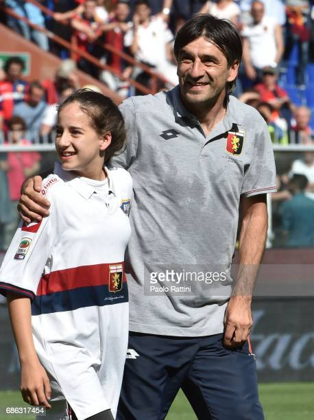 Ivan Juric head coach of Genoa happy at the end of Serie A match between Genoa CFC and FC Torino at Stadio Luigi Ferraris on May 21 2017 in Genoa...