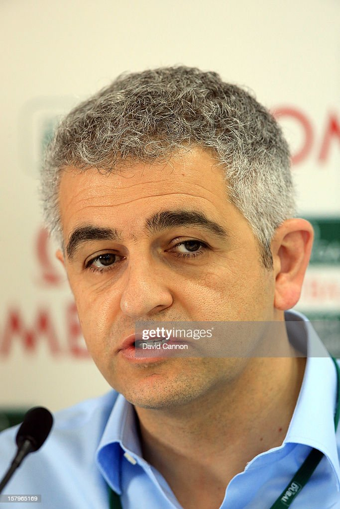 Ivan Khodabakhsh the incoming CEO of the Ladies European Tour at a media conference during the final round of the 2012 Omega Dubai Ladies Masters on the Majilis Course at the Emirates Golf Club on December 8, 2012 in Dubai, United Arab Emirates.