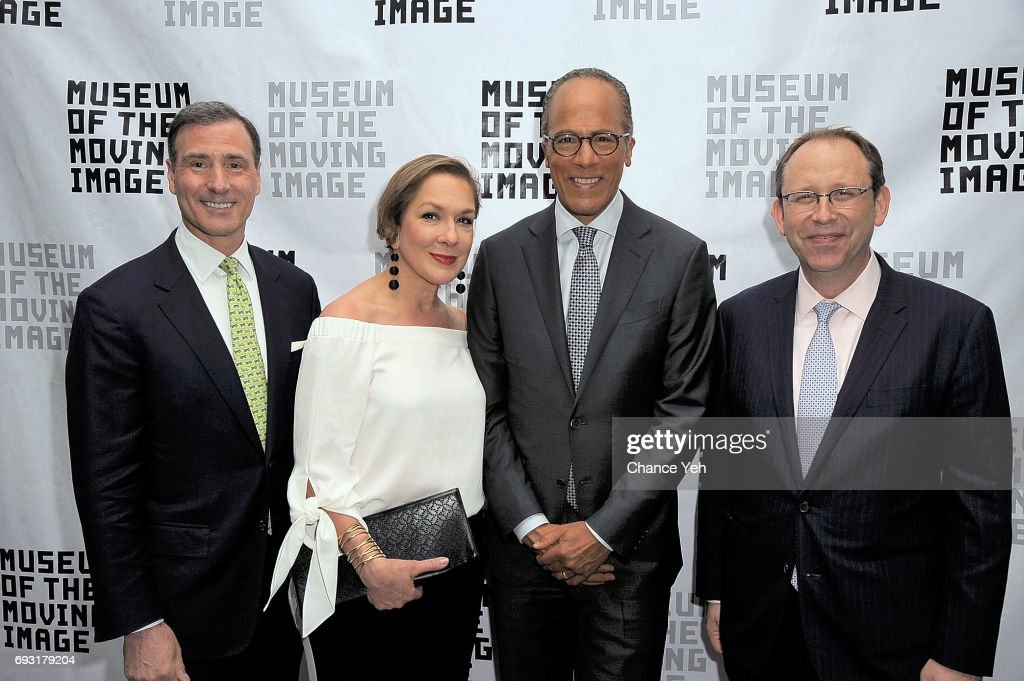 Ivan L Lustig, Carol Holt, Lester Holt and Carl Goodman attend 2017 Museum Of The Moving Image Industry Honors at Park Hyatt Hotel New York on June 6, 2017 in New York City.