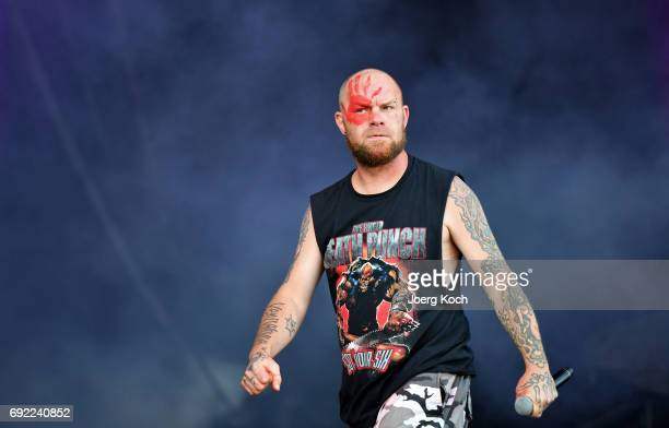 Ivan L Moody of the band 'Five Finger Death Punch' performs at Zeppelinfeld on June 4 2017 in Nuremberg Germany