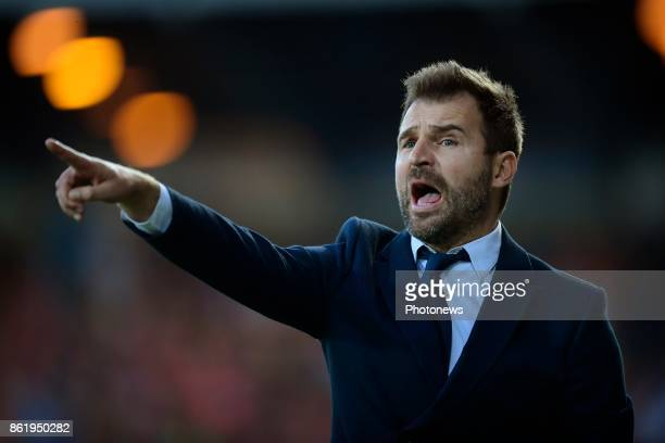 Ivan Leko head coach of Club Brugge issues instructions from the touchline during the Jupiler Pro League match between KV Oostende and Club Brugge at...