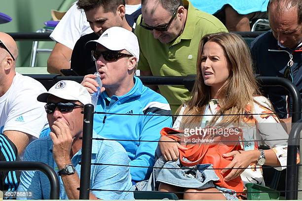 Ivan Lendl and Kim sears are seen at Sony Open Tennis at Crandon Park Tennis Center on March 26 2014 in Key Biscayne Florida