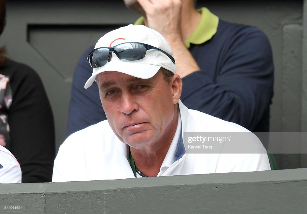 <a gi-track='captionPersonalityLinkClicked' href=/galleries/search?phrase=Ivan+Lendl&family=editorial&specificpeople=242990 ng-click='$event.stopPropagation()'>Ivan Lendl</a> attends day four of the Wimbledon Tennis Championships at Wimbledon on June 30, 2016 in London, England.