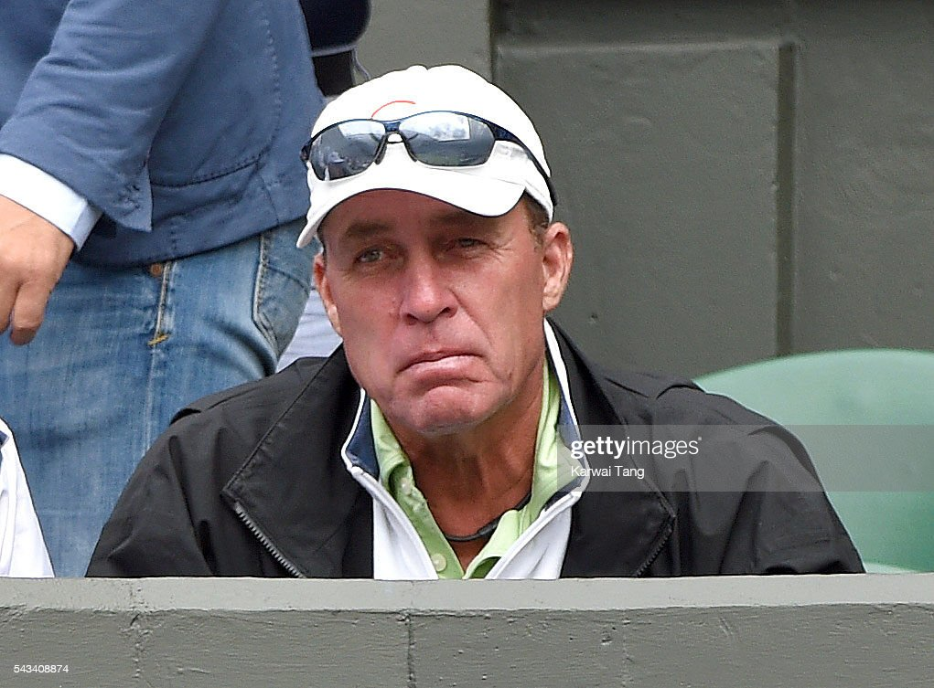 Ivan Lendl attends day two of the Wimbledon Tennis Championships at Wimbledon on June 28 2016 in London England