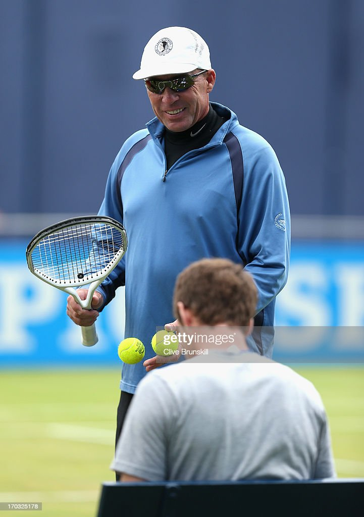 Ivan Lendl, coach of Andy Murray of Great Britain looks on during training on day two of the AEGON Championships at Queens Club on June 11, 2013 in London, England.